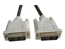 Standard White DVI Display / Screen / Monitor Cable. Suitable for LCD